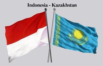 indonesia kazakhstan bendera