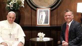 paus raja Yordania Abdullah II