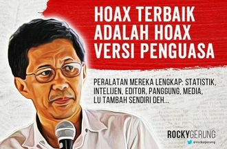 rocky gerung hoax
