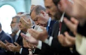 erdogan berdoa