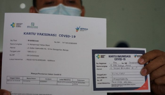 Sertifikat Vaksinasi Covid-19, Menkes: Tidak Bisa ...